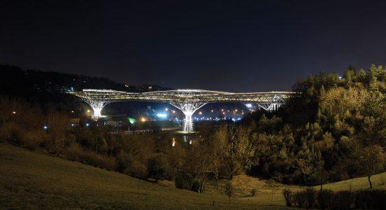 خاموشی چراغهای پل طبیعت همزمان با رویداد جهانی ساعت زمین