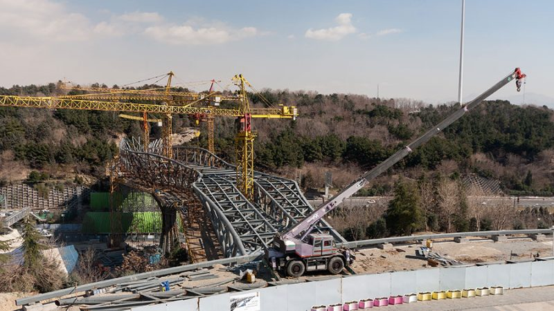 ساخت سازه فولادی پل طبیعت تهران