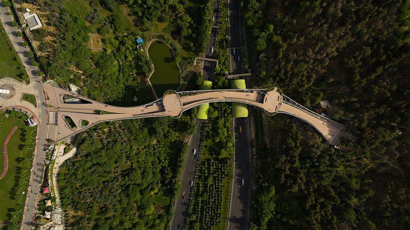 پل طبیعت اتصال دو پارک طالقانی و آب و آتش به یکدیگر