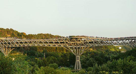 پل طبیعت بزرگترین پل غیر خودرویی ایران