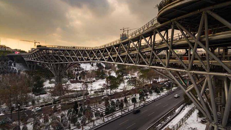 طراحی پل طبیعت توسط شرکت سازههای پارچهای دیبا